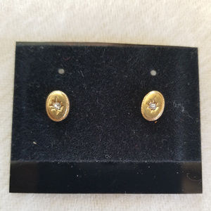 Rinestone Avon Pierced earrings